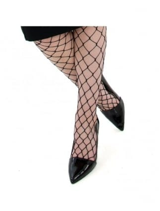Fancy Dress Black Diamond Fishnet Tights
