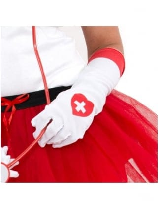 Hen Party Nurse Fancy Dress Gloves