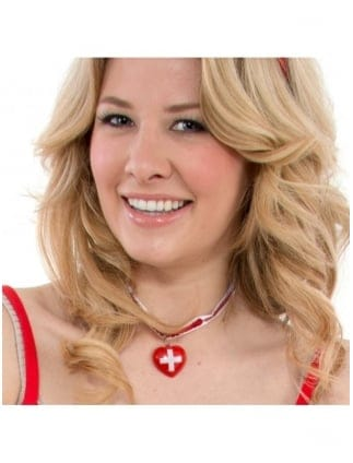 Nurse Heart Shaped Choker And Earrings
