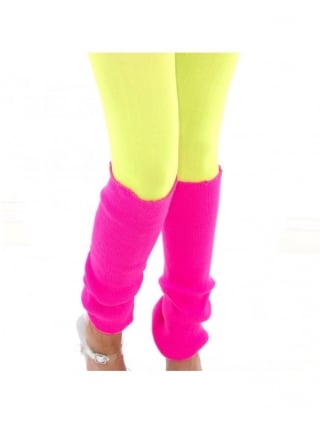 Fancy Dress Neon Leg Warmers 80's Fancy Dress Accessories