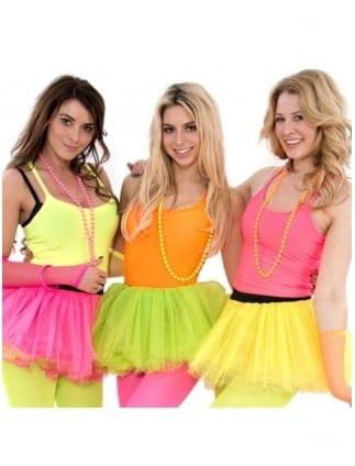 Neon Fancy Dress Stretch Neon Vest Top