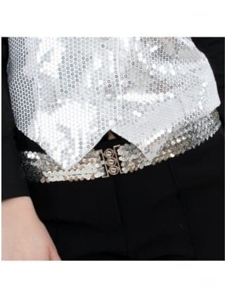 Fancy Dress Sexy Silver Sequin Belt