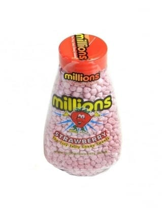 Strawberry Millions Sweets Jar Hen party Sweets