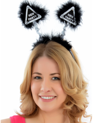 Hen Party Head Boppers Black/Silver