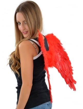Red Feather Fancy Dress Wings / Hen Party Fairy/Angel Wings