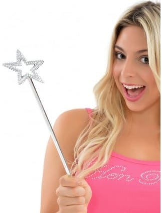 Silver Star Fancy Dress / Hen Party Wand
