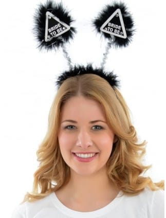 Bride To Be Black/White Head Boppers