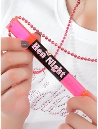 Hen Night/ Hen Party Test Tube Shot Glass Necklace