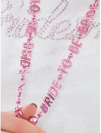 Hen Party Bride To Be Beaded Necklace