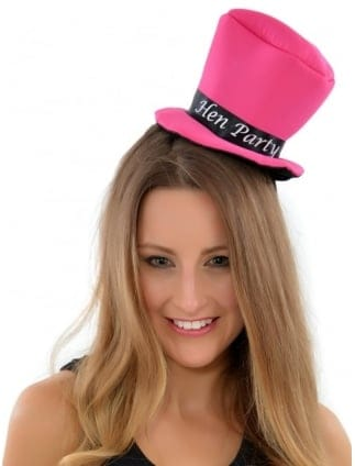 Hen Party Pink Top Hat