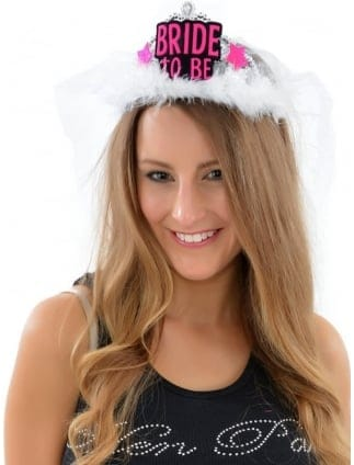 Hen Night Bride To Be Tiara and Veil Extra Long Veil