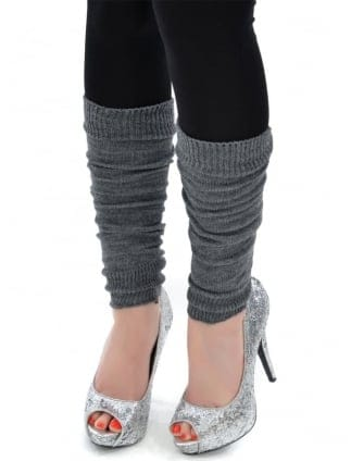 Fancy Dress Army Grey Legwarmers