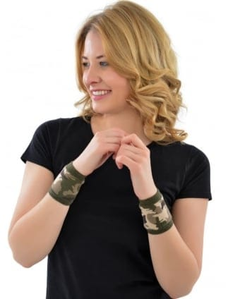 Camouflage Army Fancy Dress Wristbands
