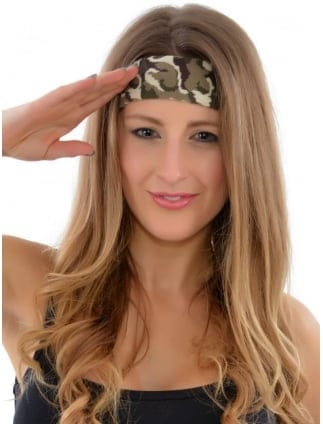 Army Camouflage Fancy Dress Headband