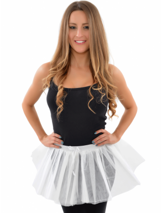 White Fancy Dress Tutu Skirt