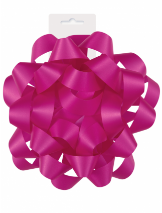 "Gift Bow 6"" Hot Pink"