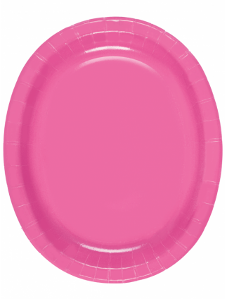 Oval Serving Platters Pack Of 8 Hot Pink