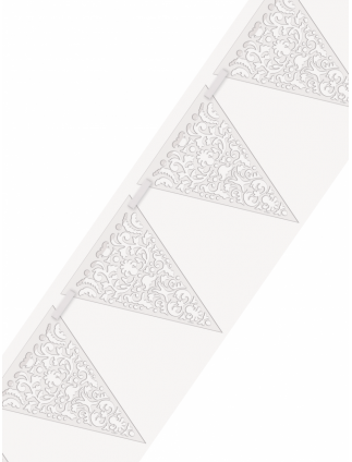 Bridal Shower Lace Paper Flag Bunting