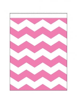 Chevron Paper Treat Bag Pack Of 10 (22.2cm x 16.5cm)