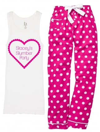 Slumber Heart Personalised Hen Party Pyjamas