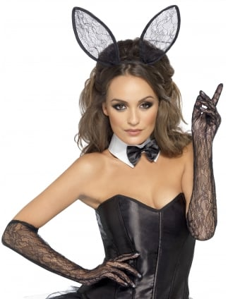 Lace Bunny Kit with Ears, Collar and Gloves