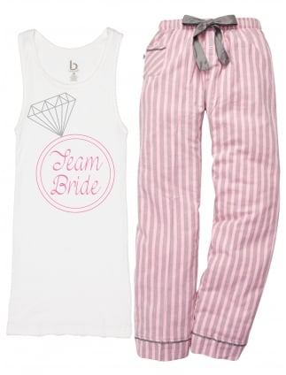 Bling Ring Team Bride Hen Party Pyjamas
