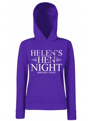 Classic Hen Party Personalised Hoodie