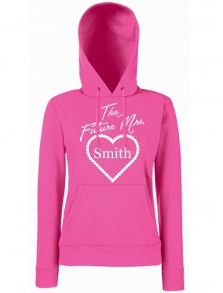 Frilly Heart Future Mrs Personalised Hen Party Hoodie