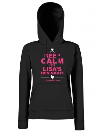 Keep Calm Hen Party Personalised Hoodie