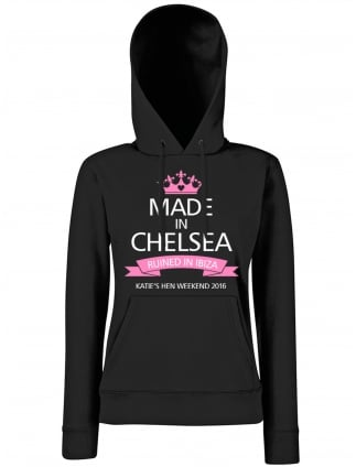 Made In Personalised Hen Party Hoodie