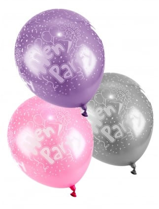 Hen Party Printed Balloons Pack Of 5