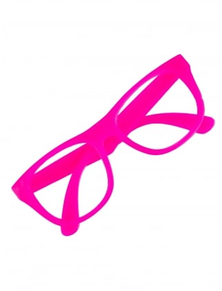 Neon Pink Framed Glasses
