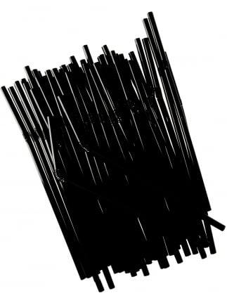 x50 Black Hen Party Straws