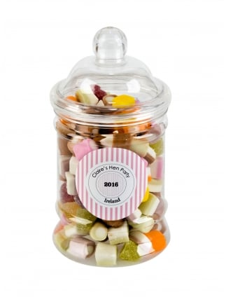 x1 Personalised Hen Party Favour Kit, Vintage Vanity Treat Jar