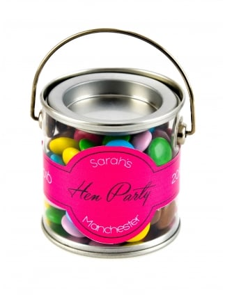 x1 Personalised Hen Party Favour Kit, Mini Chocolate Sweets Paint Pot