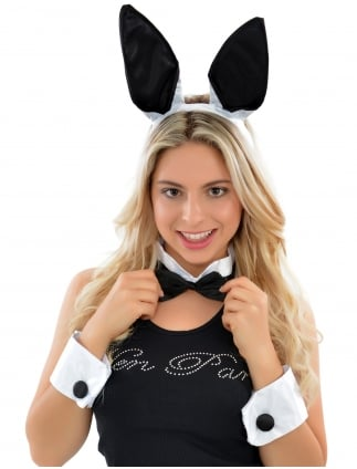 Bunny Girl Fancy Dress Set / Kit Black & White