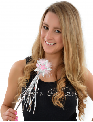 Hen Party Silver Star Fancy Dress Wand