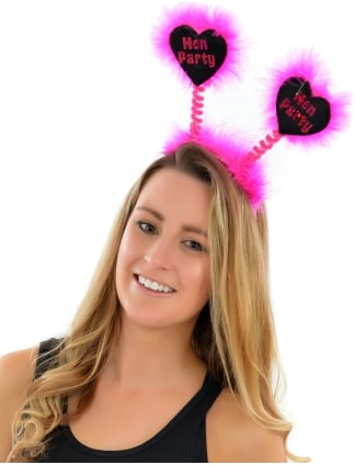 Hen Party Head Boppers Black Heart Shaped Boppers