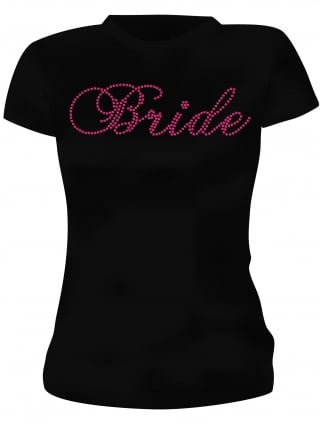 Hen Party T-Shirts Bride To Be Pink Diamante Hen Night T-Shirts