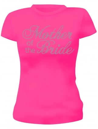 Hen Party T-Shirts Mother of the Bride Diamante Hen Night T-Shirts