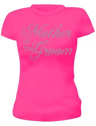 Mother of the Groom Diamante Hen Party T-Shirts Hen Night T-Shirts