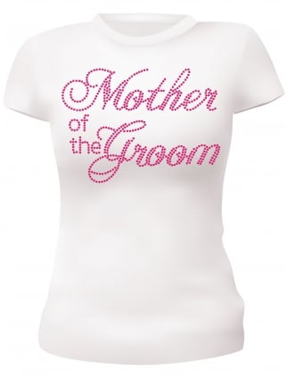 Hen Night T-Shirts Mother of the Groom Diamante Hen Party T-Shirts