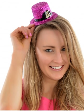 Hen Party Mini Glitter Top Hat