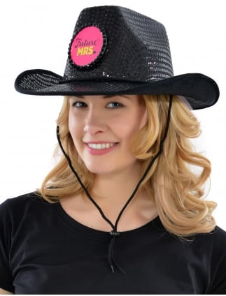 Hen Party Cowgirl Hat with Veil