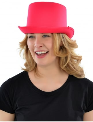 Deluxe Pink Hen Party Top Hat