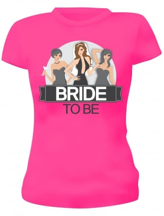 Brunette Bride To Be Hen Party T-Shirt