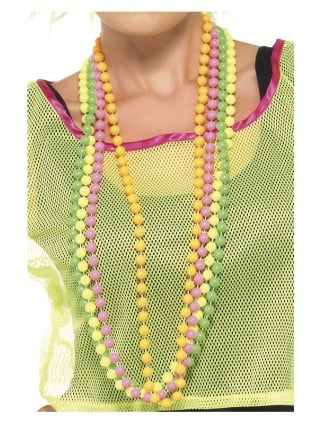 Neon Beaded Necklaces (Pack of 4)