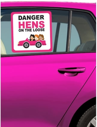 Danger Hens On The Loose Car Window Sticker