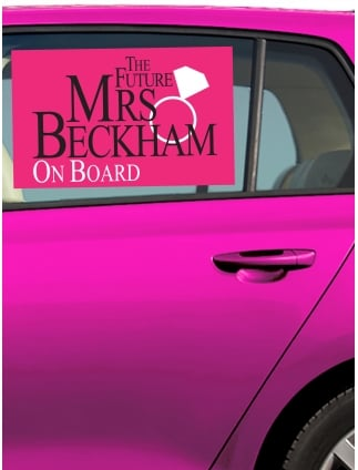 The future mrs personalised hen party car window sticker