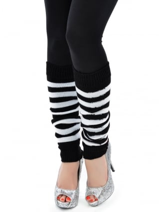 Fancy Dress Convict Leg Warmers, Convict Fancy Dress Accessories
